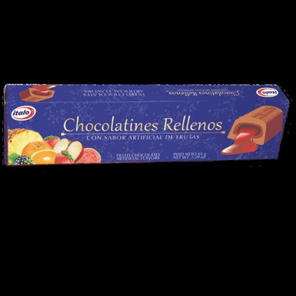 Chocolate con liquido de fruta. Taco x6und