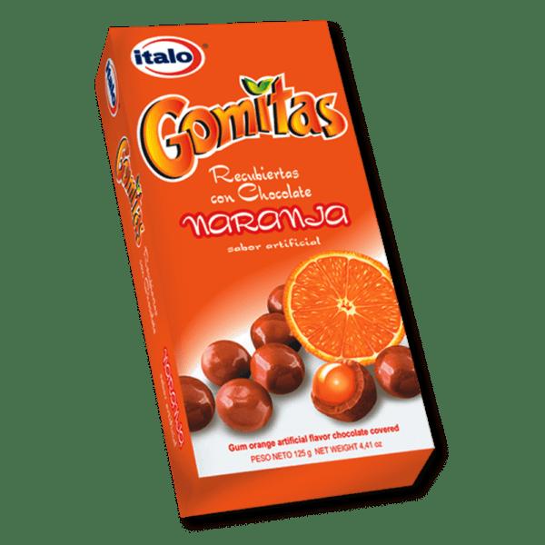 Gomitas de choc. Naranja