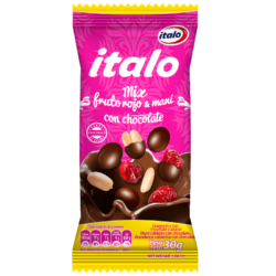 Snacks Mix frutos rojos y maní con chocolate